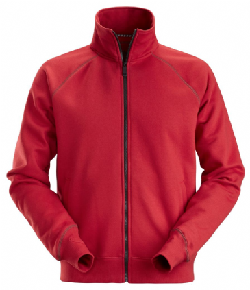 Snickers 2886 AllroundWork Full Zip Sweatshirt Jacket (Chili Red)